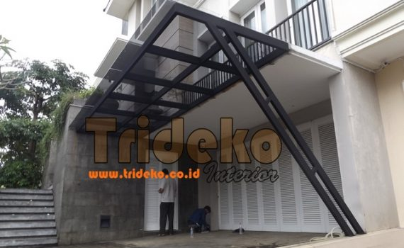 Proyek Canopy Teras Laminated Tempered Gading Serpong